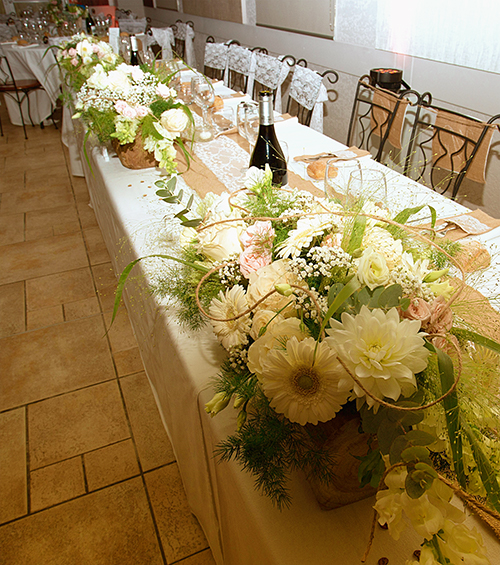 salle mariage table